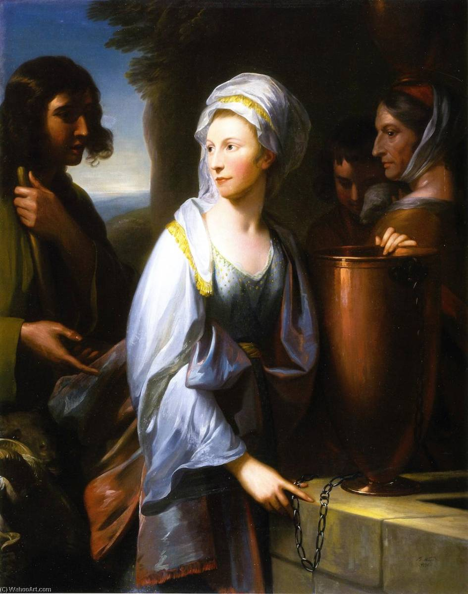 Wikioo.org - The Encyclopedia of Fine Arts - Painting, Artwork by Benjamin West - Mary, Wife of Henry Thompson of KIrby Hall, as Rachel at the Well