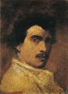 French Portrait de Falguière par lui même