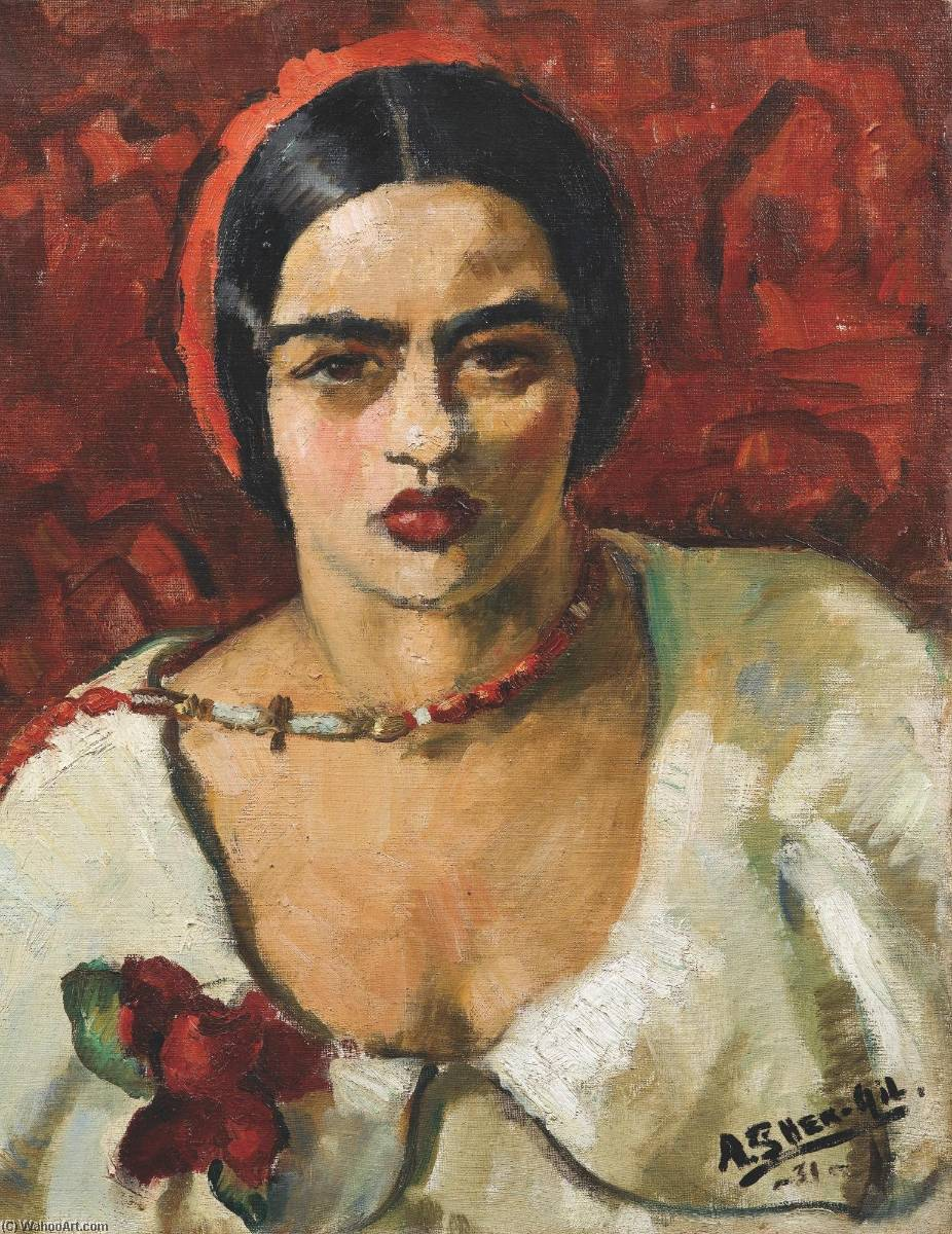 Wikioo.org - The Encyclopedia of Fine Arts - Painting, Artwork by Amrita Sher Gil - Untitled (Self Portrait)