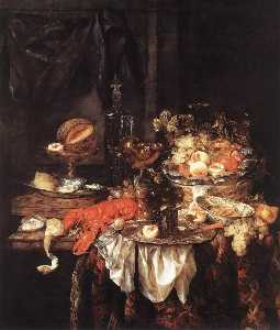 Banquet Still Life with a Mouse