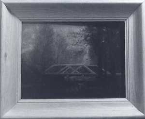 (Woods Landscape with Wooden Bridge), (painting)