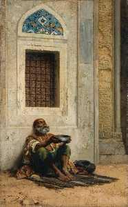 Mendicant at the Mosque door