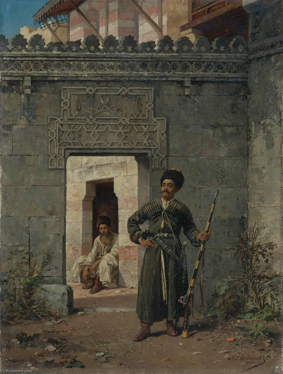 Wikioo.org - The Encyclopedia of Fine Arts - Painting, Artwork by Stanislaus Von Chlebowski - The Circassian Guards