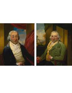 A Pair of Portraits of the American Merchant Samuel Hart (c. 1749 1810) and his Brother Moses Hart (d. 1825)