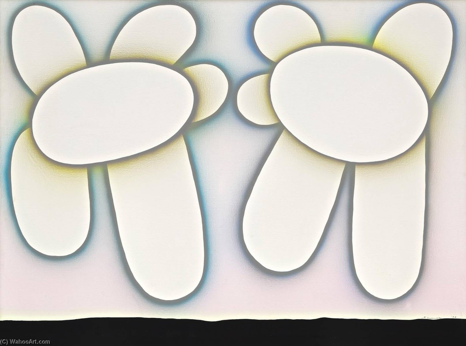 Wikioo.org - The Encyclopedia of Fine Arts - Painting, Artwork by Sadamasa Motonaga - Untitled (Howa Howa)