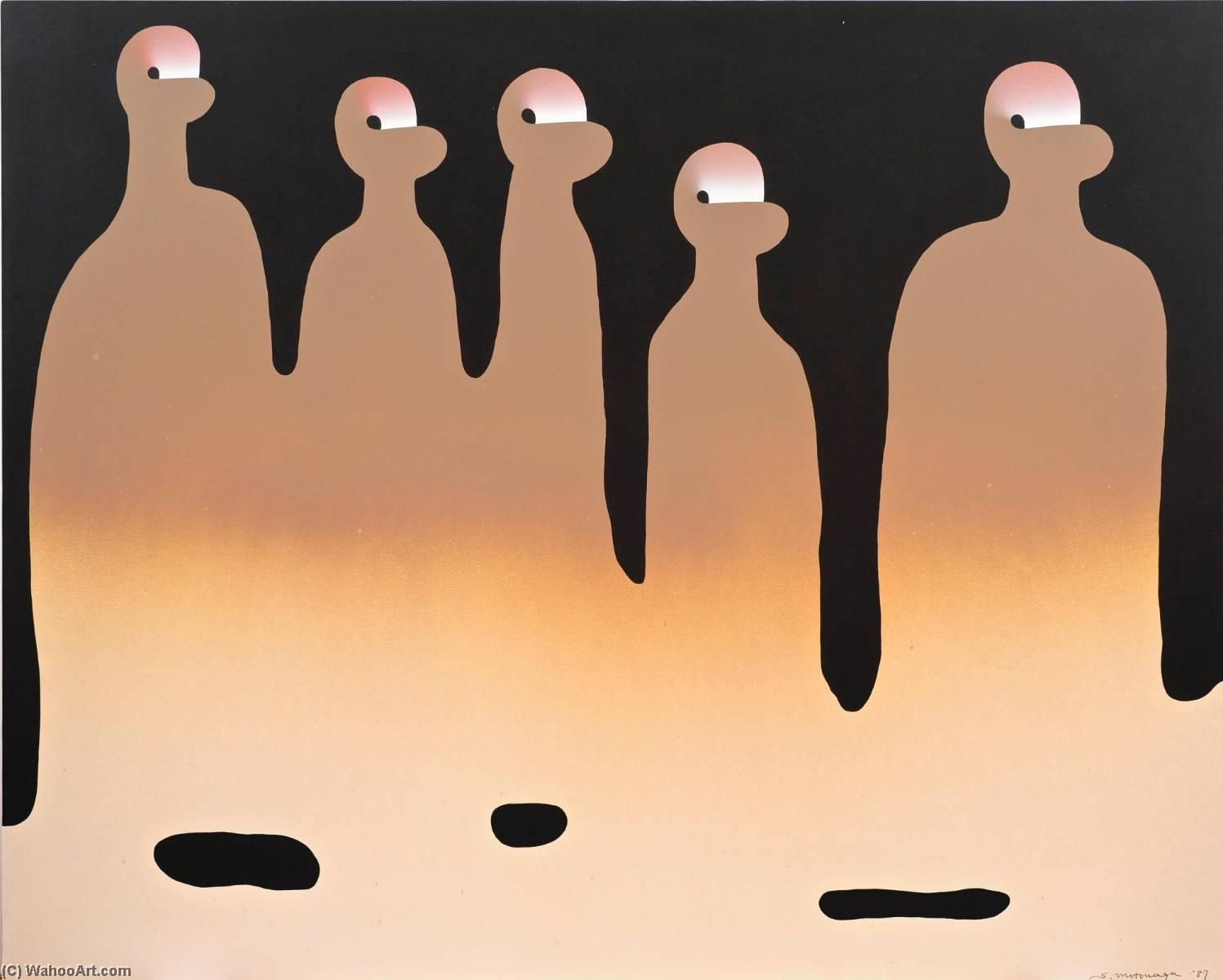 Wikioo.org - The Encyclopedia of Fine Arts - Painting, Artwork by Sadamasa Motonaga - Tsunagatteiru