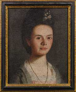 Portrait of a Young Lady with Spray of Flowers in her Hair Mary King Mason