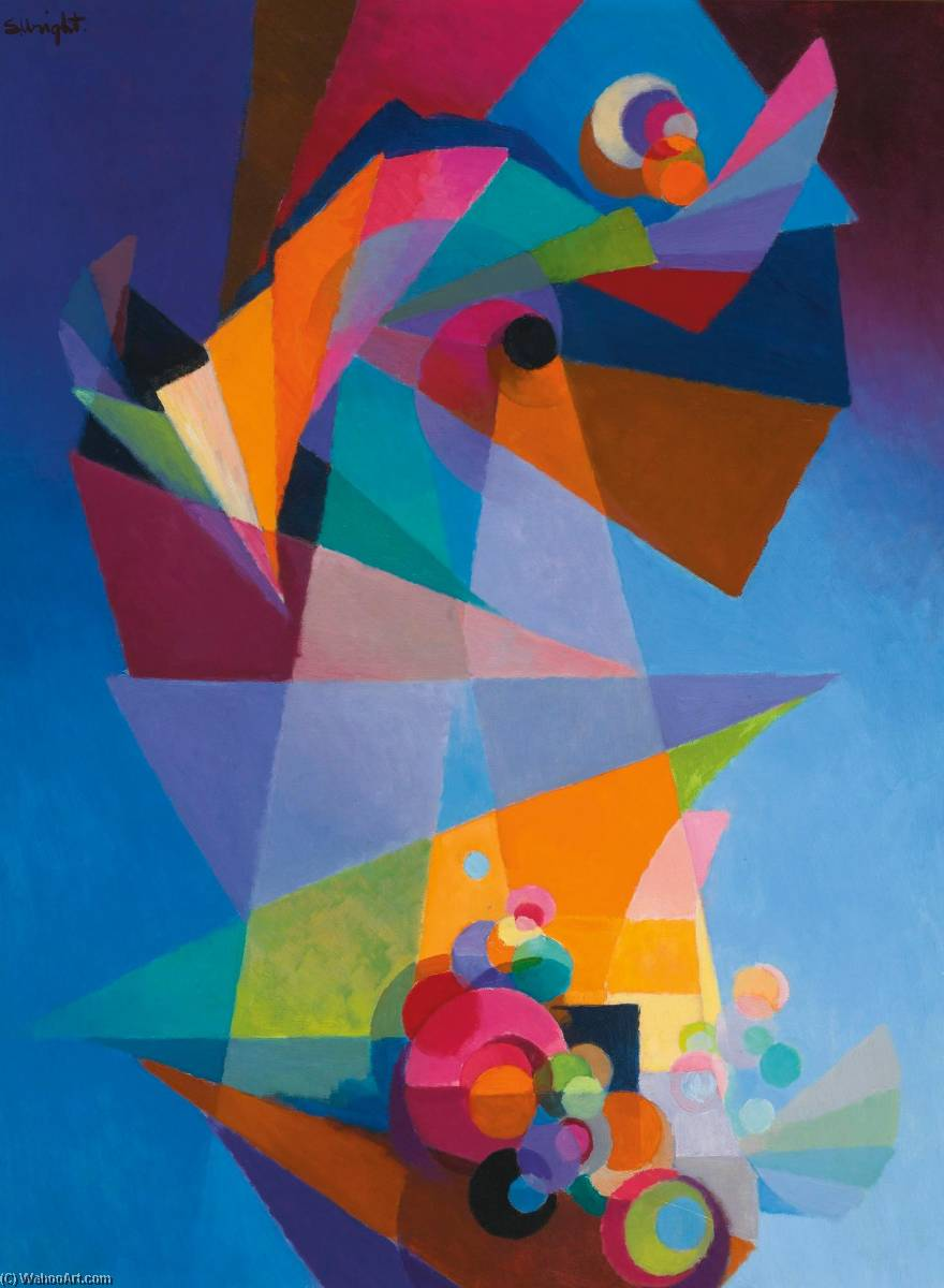 Wikioo.org - The Encyclopedia of Fine Arts - Painting, Artwork by Stanton Macdonald Wright - Embarkation