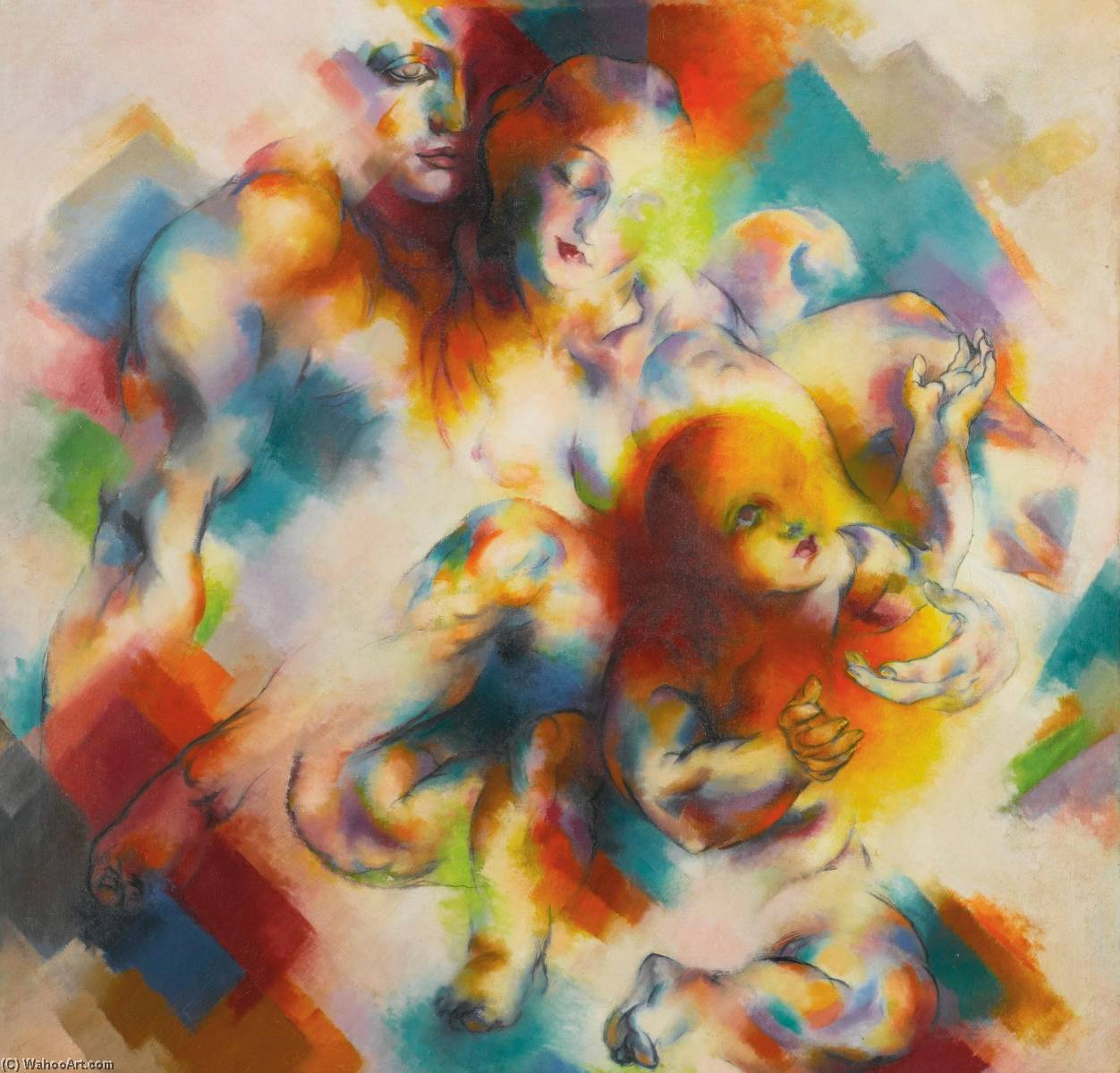 Wikioo.org - The Encyclopedia of Fine Arts - Painting, Artwork by Stanton Macdonald Wright - Nature Synchromy