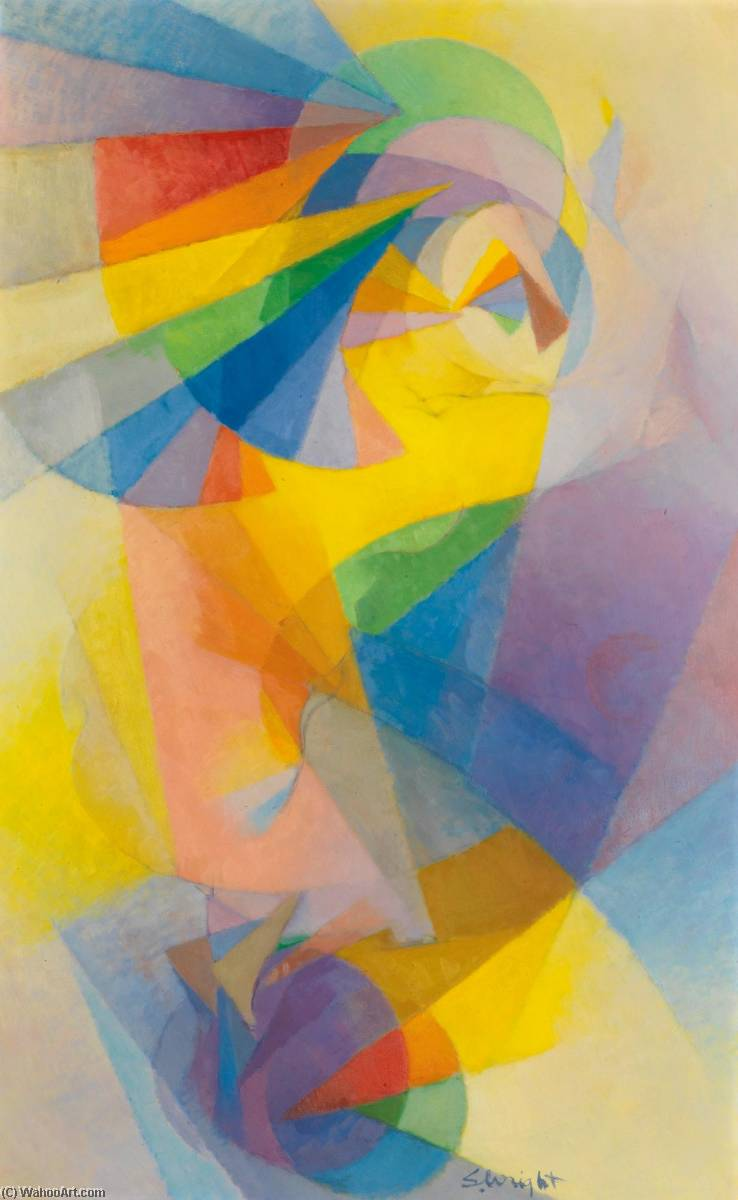 Wikioo.org - The Encyclopedia of Fine Arts - Painting, Artwork by Stanton Macdonald Wright - Flying Figure No. 2