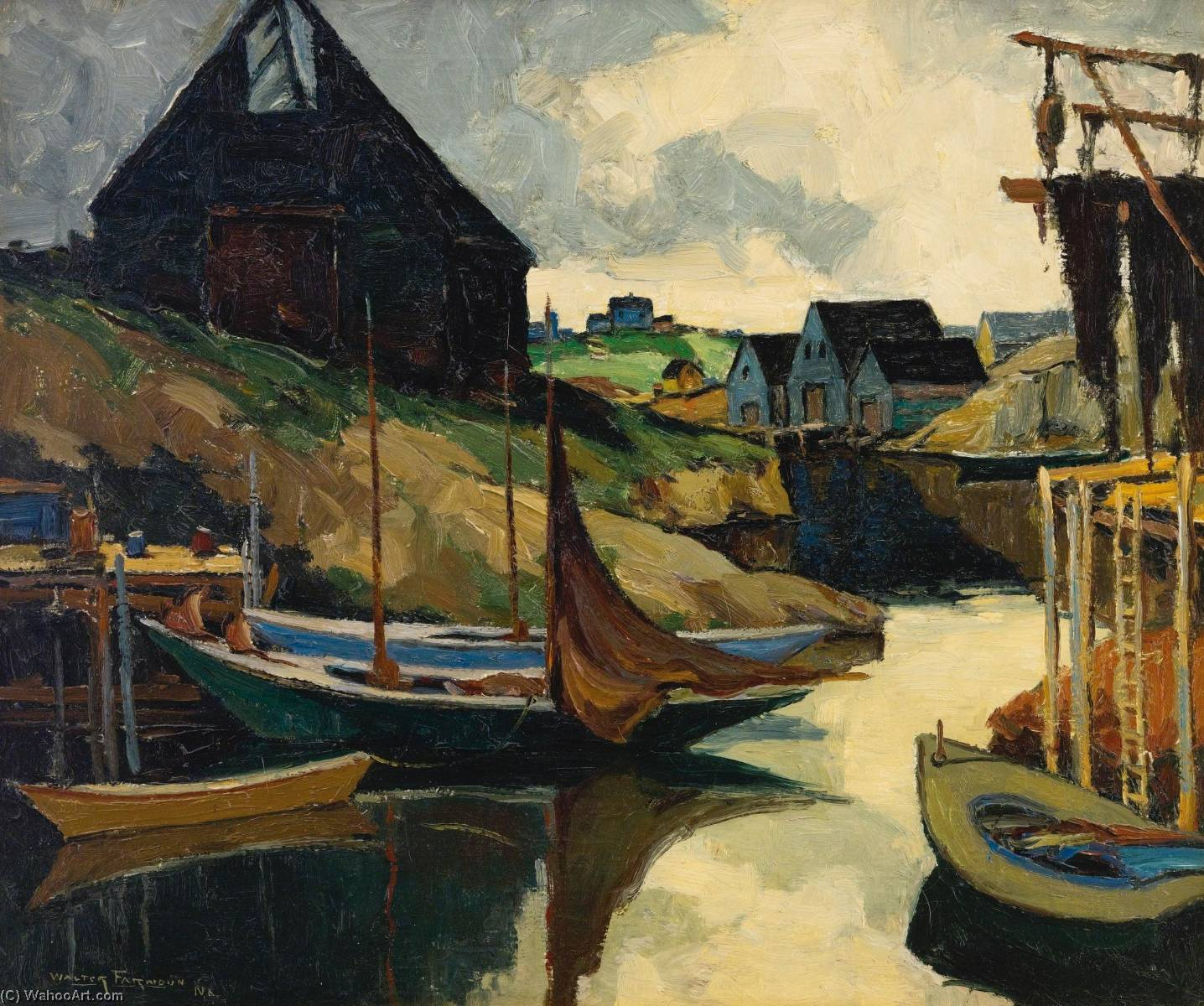 Wikioo.org - The Encyclopedia of Fine Arts - Painting, Artwork by Walter Farndon - Safe Harbor