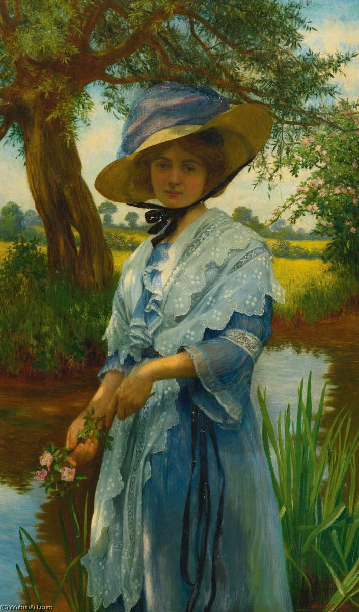Wikioo.org - The Encyclopedia of Fine Arts - Painting, Artwork by William Savage Cooper - By the River