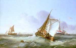 A Dutch Boeier in a Fresh Breeze