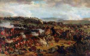 The Battle of Waterloo The British Squares Receiving the Charge of the French Cuirassiers