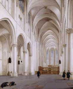 The Interior of the Church of St Catherine, Utrecht