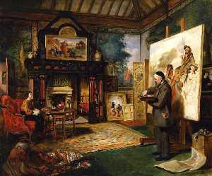 John Phillip in His Studio