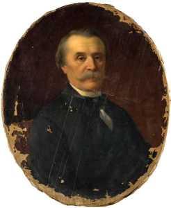 PORTRAIT DE JULES JAN, DIRECTEUR DU MUSEE DE RENNES DE 1876 A 1887