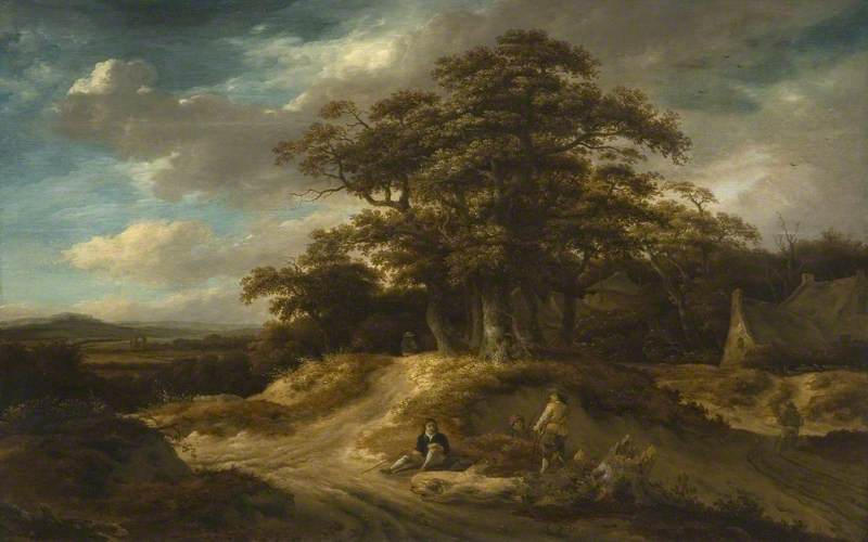 Wikioo.org - The Encyclopedia of Fine Arts - Painting, Artwork by Roelof Jansz Van Vries - Travellers at the Edge of a Village