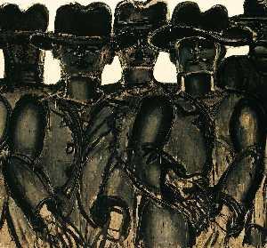 Five Men with Hats
