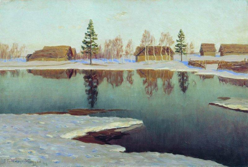 Wikioo.org - The Encyclopedia of Fine Arts - Painting, Artwork by Vitold Bilianitsky Birulia - Early Spring