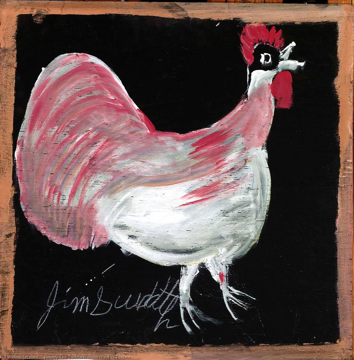 Wikioo.org - The Encyclopedia of Fine Arts - Painting, Artwork by Jimmy Lee Sudduth - Untitled (Chicken)