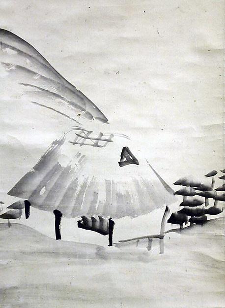 Wikioo.org - The Encyclopedia of Fine Arts - Painting, Artwork by Otagaki Rengetsu - Mountain Village in Autumn