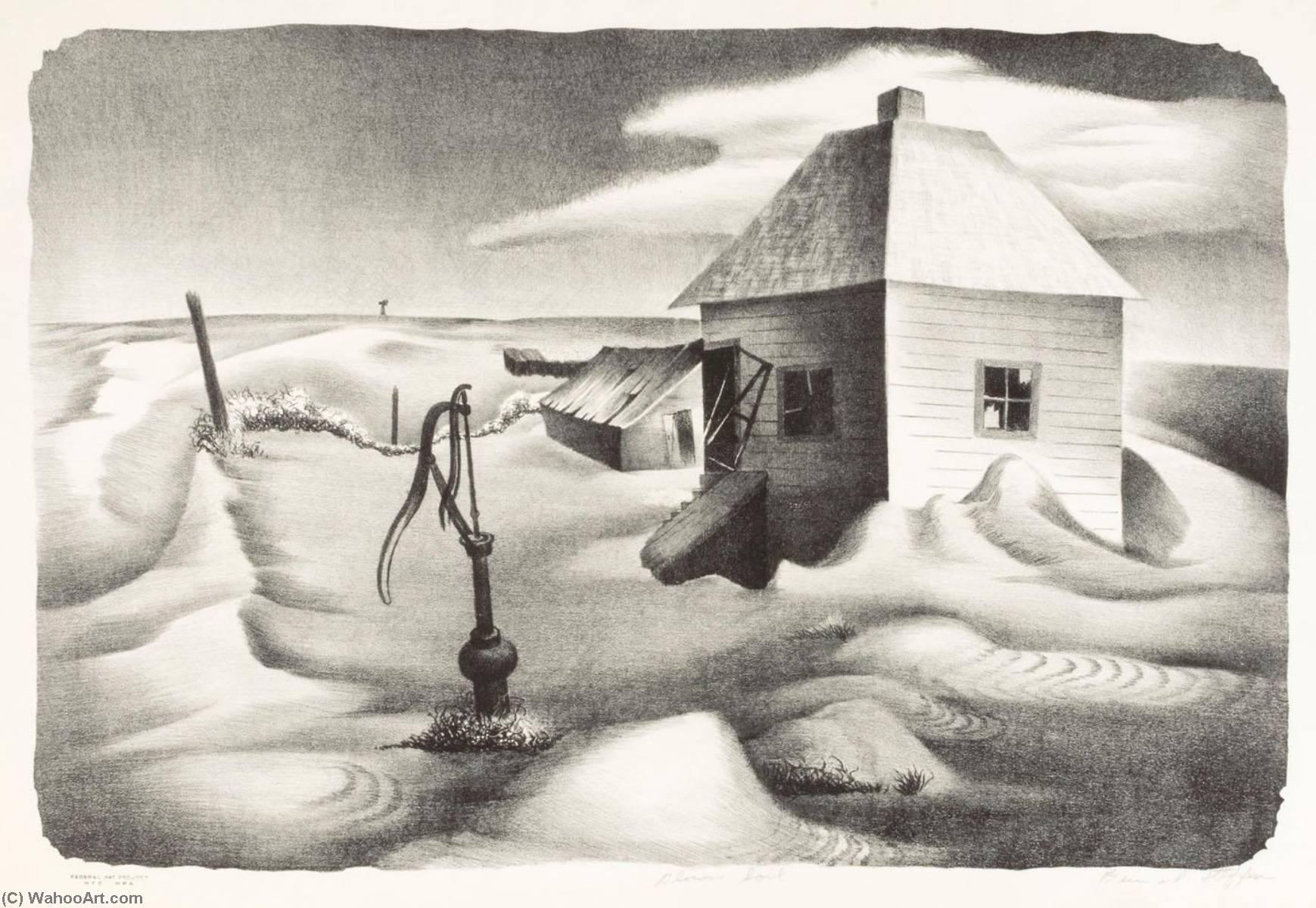 Wikioo.org - The Encyclopedia of Fine Arts - Painting, Artwork by Bernard Steffen - Blown Soil