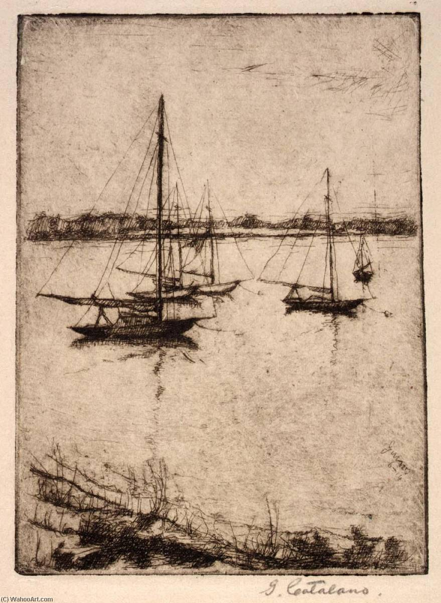 Wikioo.org - The Encyclopedia of Fine Arts - Painting, Artwork by Guiseppe Catalano - Detroit River
