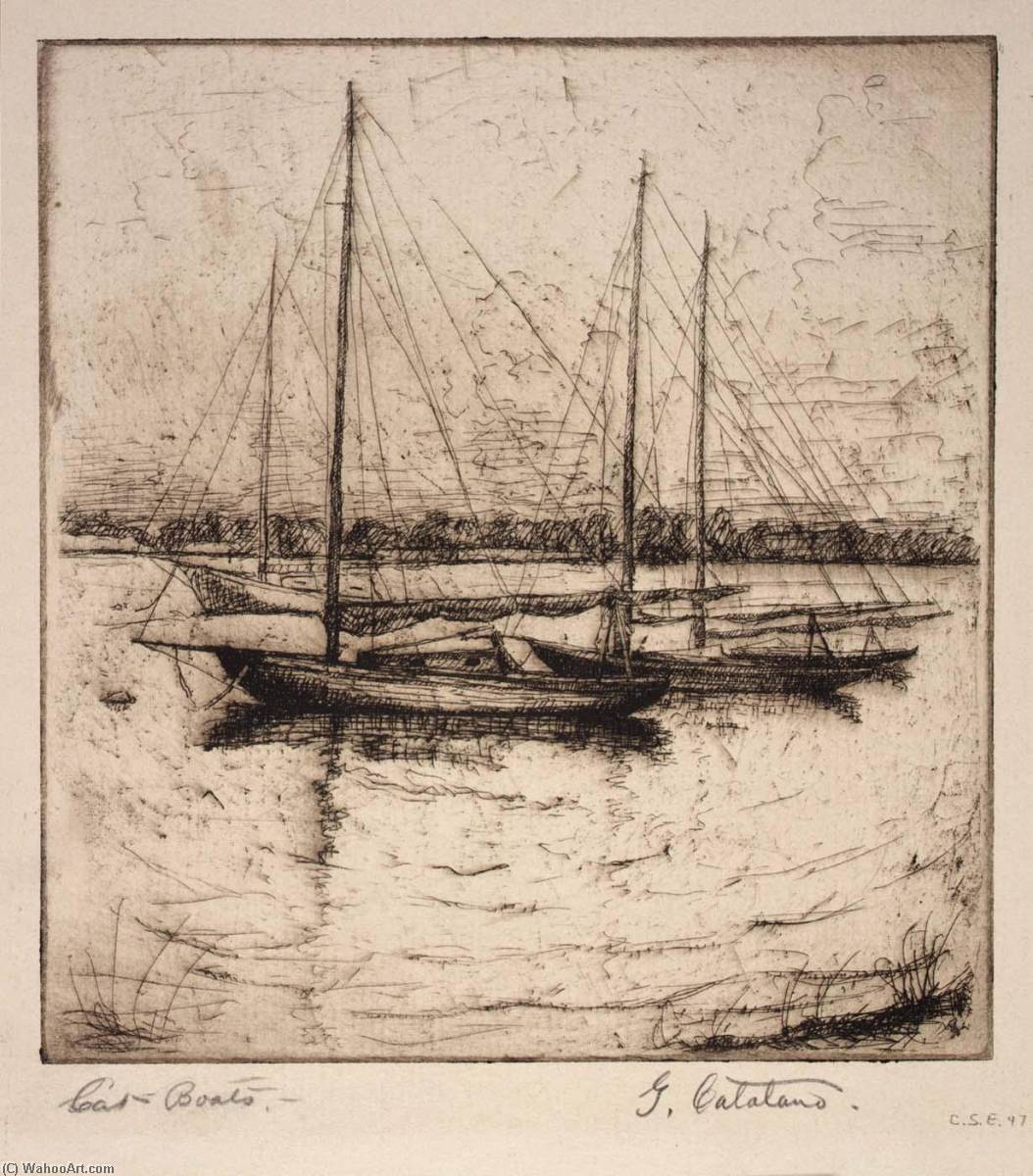 Wikioo.org - The Encyclopedia of Fine Arts - Painting, Artwork by Guiseppe Catalano - Cat Boats