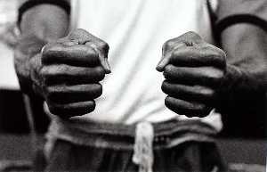 Unidentified Boxer's Fists, Salfero Gym
