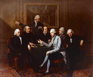 Group Portrait of Directors of Teylers Foundation