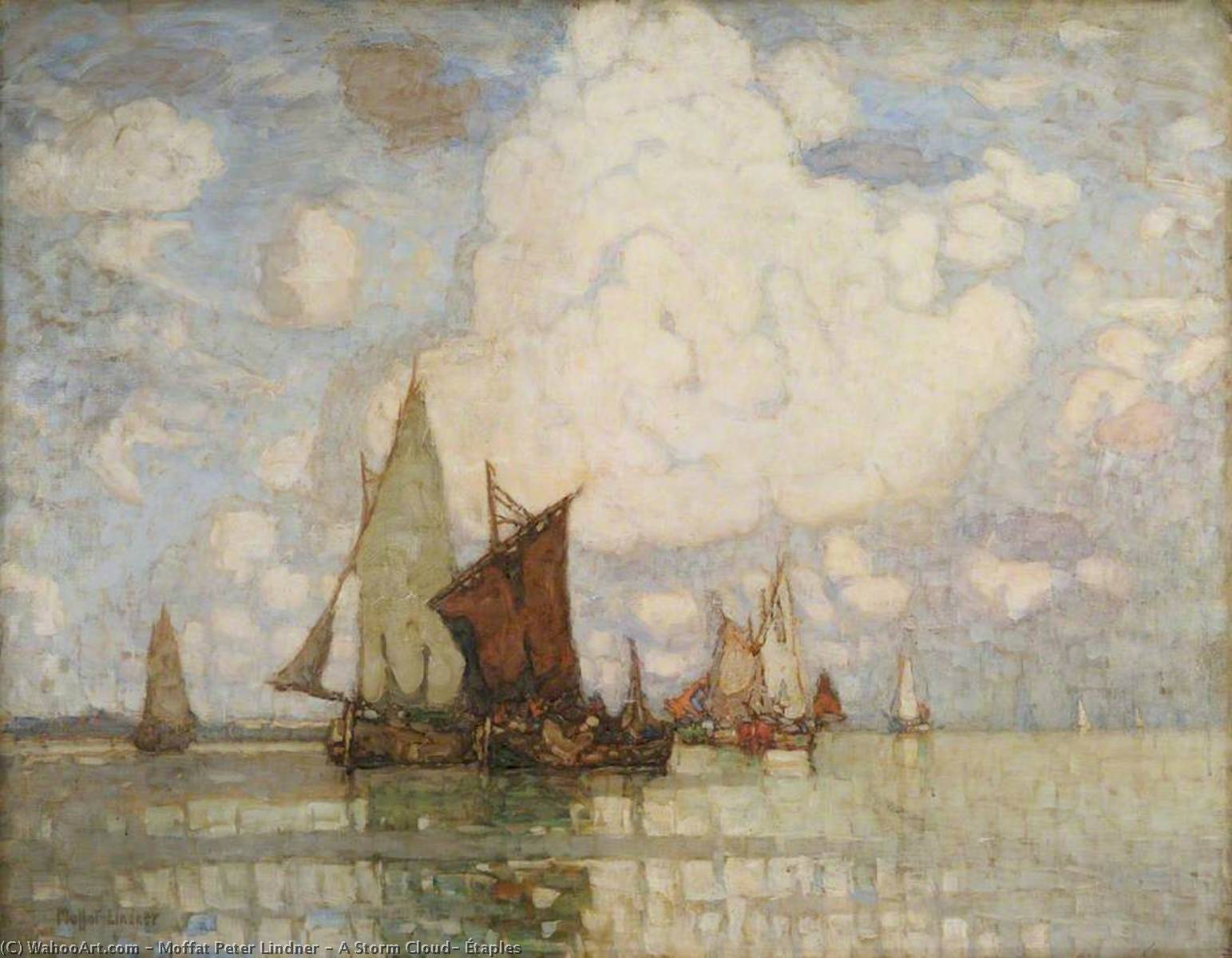 Wikioo.org - The Encyclopedia of Fine Arts - Painting, Artwork by Moffat Peter Lindner - A Storm Cloud, Étaples