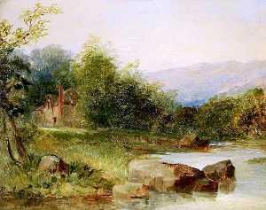 río del paisaje escena