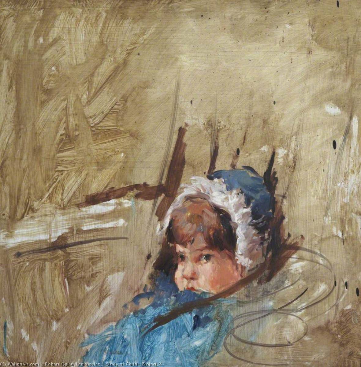 Wikioo.org - The Encyclopedia of Fine Arts - Painting, Artwork by Robert Oskar Lenkiewicz - Study of Child, Project 3