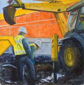 Digging Footings for the Perimeter Wall