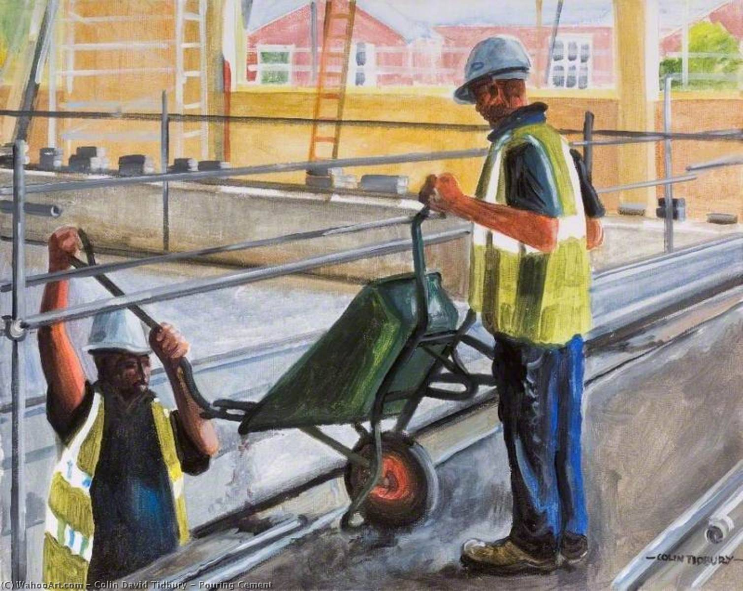 Wikioo.org - The Encyclopedia of Fine Arts - Painting, Artwork by Colin David Tidbury - Pouring Cement