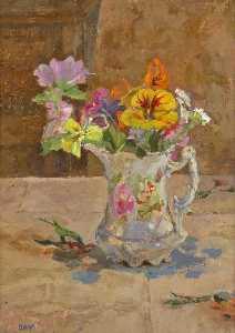 Flowers in Victorian Jug