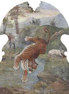 Hatwell's 'Gallopers' Tiger Hunt (bottom centre panel)