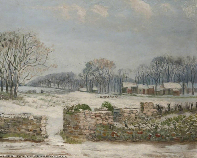 Wikioo.org - Die Enzyklopädie bildender Kunst - Malerei, Kunstwerk von James Wylie - winter-bauernhof Bühne