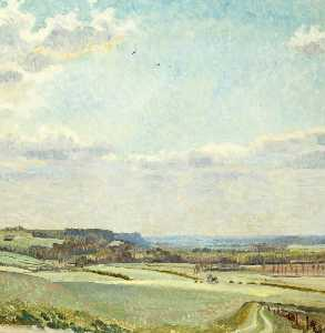 Towards Hexton from Tingley Wood, Hertfordshire