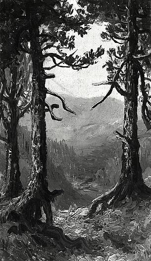 Wikioo.org - The Encyclopedia of Fine Arts - Painting, Artwork by Ralph Albert Blakelock - Adirondack Landscape, (painting)