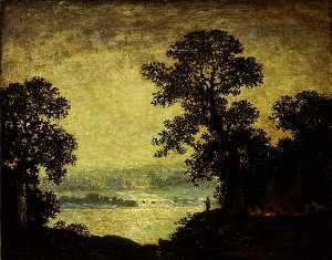 Moonlight, Indian Encampment