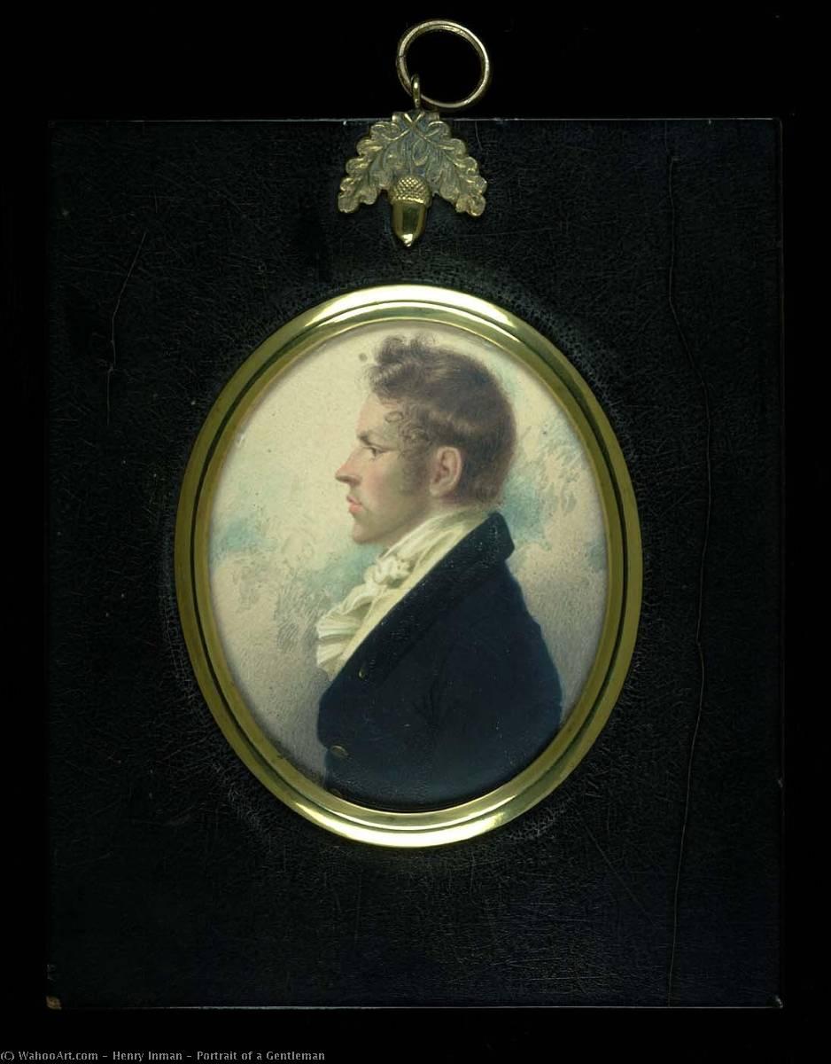 Wikioo.org – L'Enciclopedia delle Belle Arti - Pittura, Opere di Henry Inman - Ritratto di gentiluomo