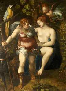Venus and Adonis (after Cornelis van Haarlem)