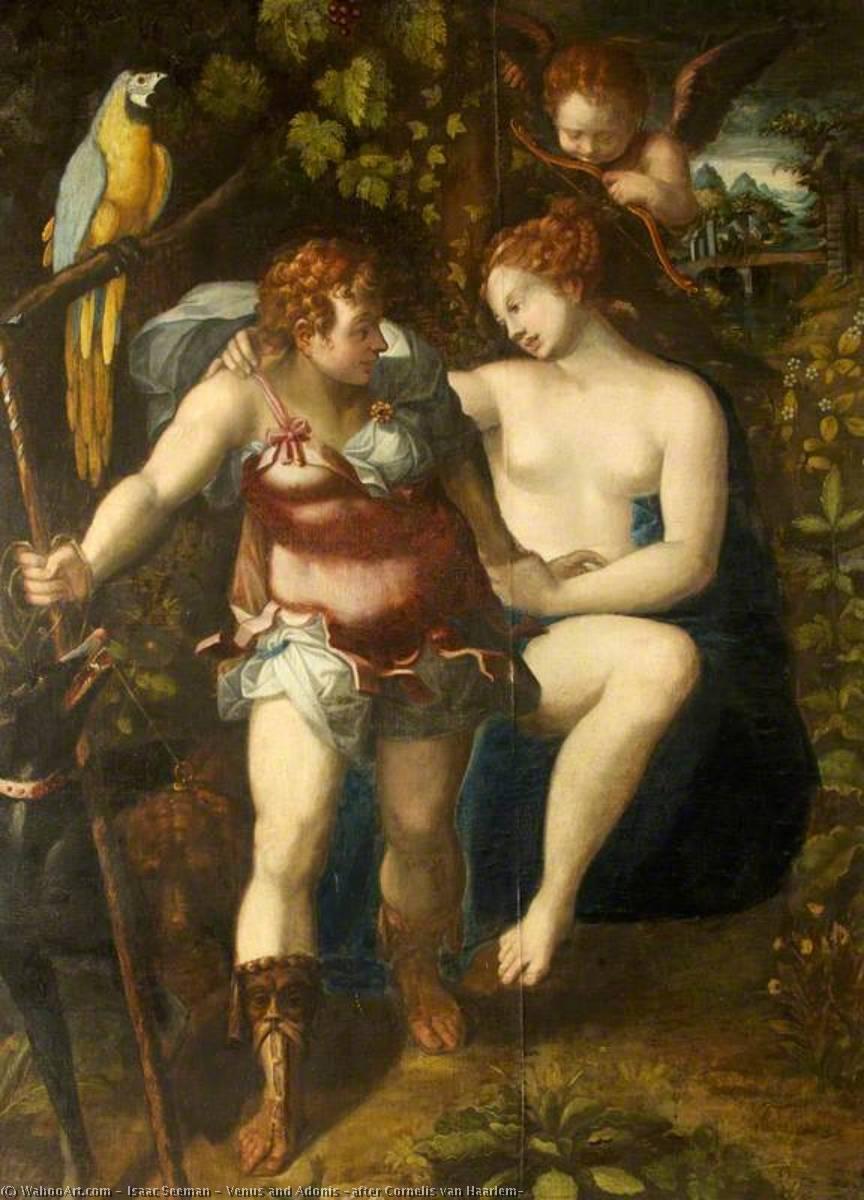Wikioo.org - The Encyclopedia of Fine Arts - Painting, Artwork by Isaac Seeman - Venus and Adonis (after Cornelis van Haarlem)