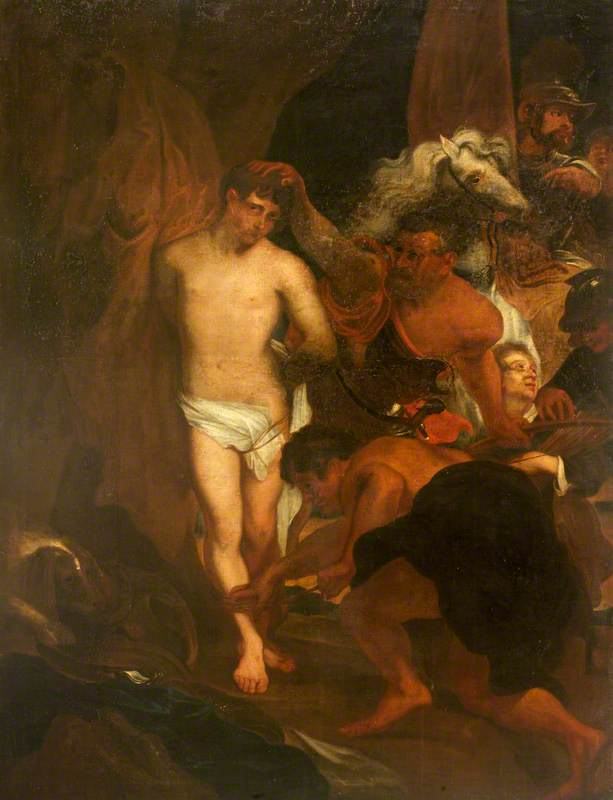 Wikioo.org - The Encyclopedia of Fine Arts - Painting, Artwork by Isaac Seeman - Saint Sebastian Bound for Martyrdom (after Anthony van Dyck)