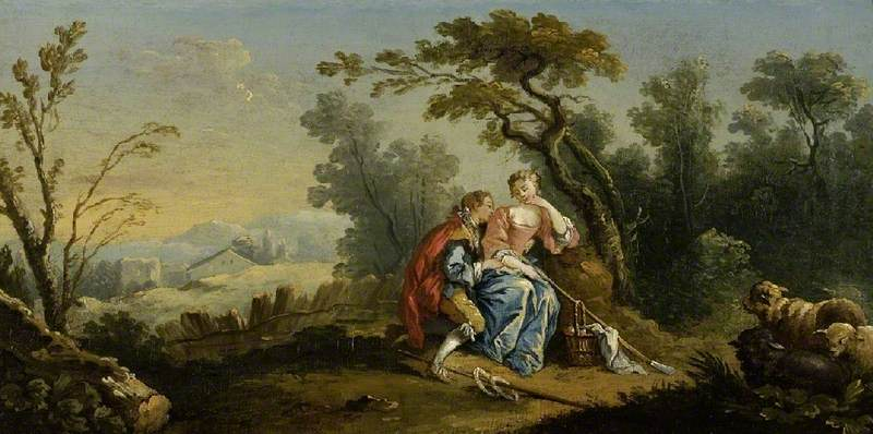 Wikioo.org - The Encyclopedia of Fine Arts - Painting, Artwork by Jean Baptiste Huet I - A Pastoral