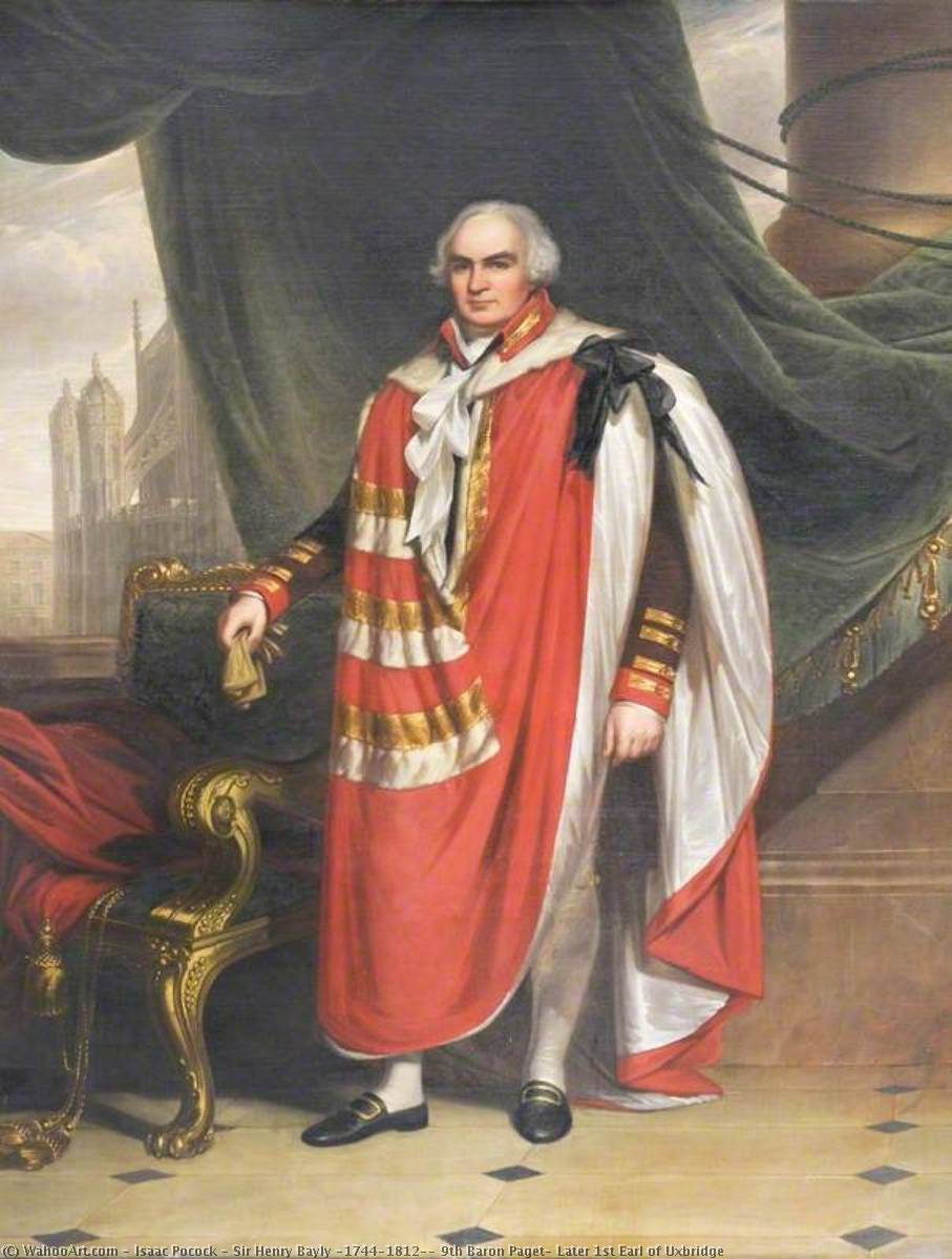 Wikioo.org - The Encyclopedia of Fine Arts - Painting, Artwork by Isaac Pocock - Sir Henry Bayly (1744–1812), 9th Baron Paget, Later 1st Earl of Uxbridge