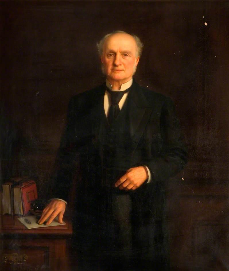 Wikioo.org - The Encyclopedia of Fine Arts - Painting, Artwork by Joseph Gibbs - Frederick Talbot, Headmaster of Chance's School, Smethwick (1845–1892)
