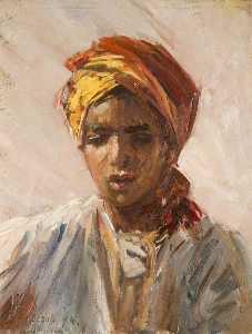 Head of a Bedouin Arab Boy